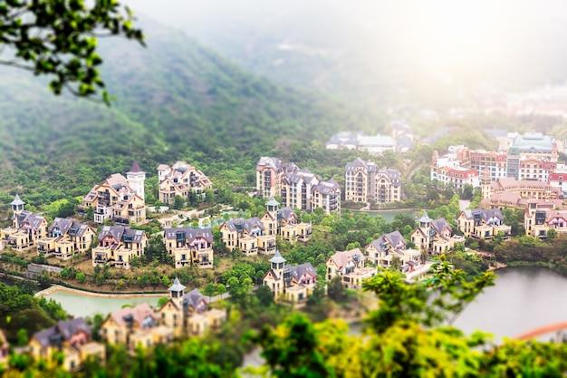 中国マウンテンヴィラの深セン海外の中国の町
