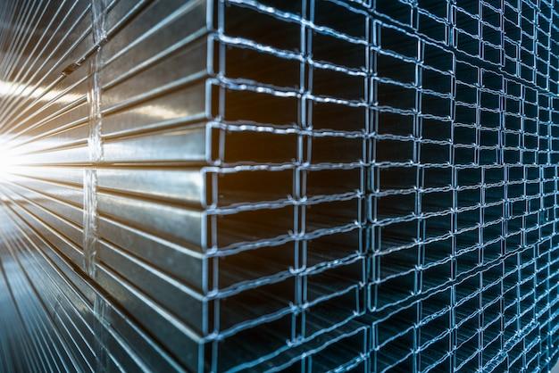 ステンレス鋼の質感のクローズアップ