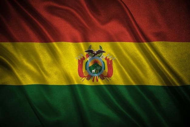 ボリビアの背景の旗
