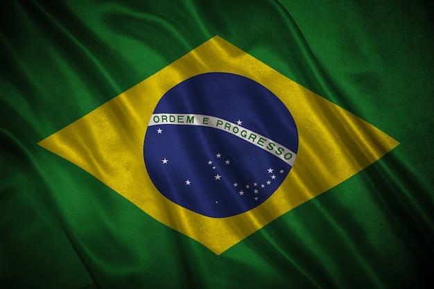 ブラジルの背景の旗