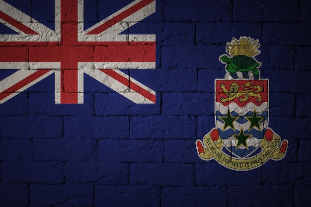 Флаг с оригинальными пропорциями. крупным планом гранж флаг каймановых островов