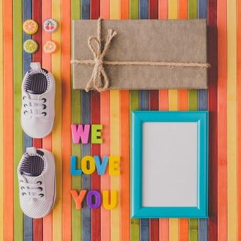 私たちがあなたを愛している新生児を歓迎