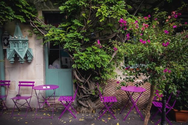 素敵な紫色の通り