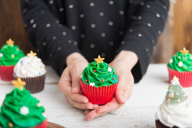 Кексы на рождество