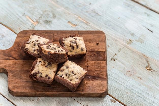 手作りチョコレートのクッキーブラウニー
