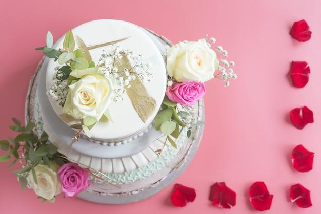 Свадебный торт помадка