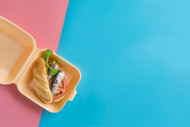 Сардины сэндвич здоровый