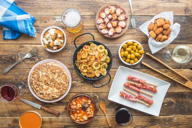 典型的なスペイン料理