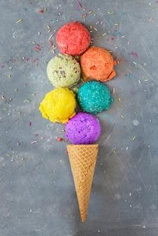 Мороженое разных фруктов