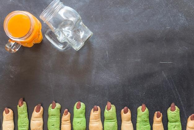 Пальцевое печенье на хэллоуин