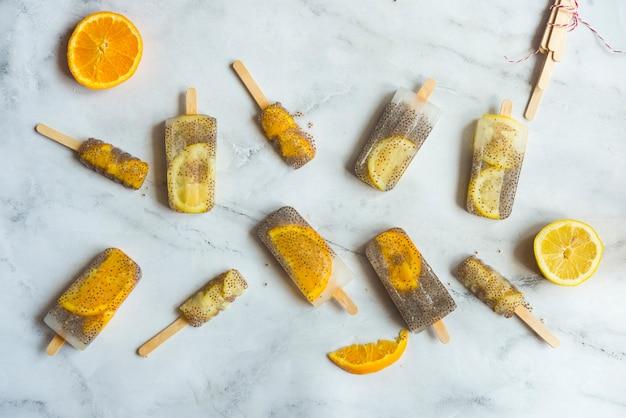 アイスキャンデーチアと柑橘類