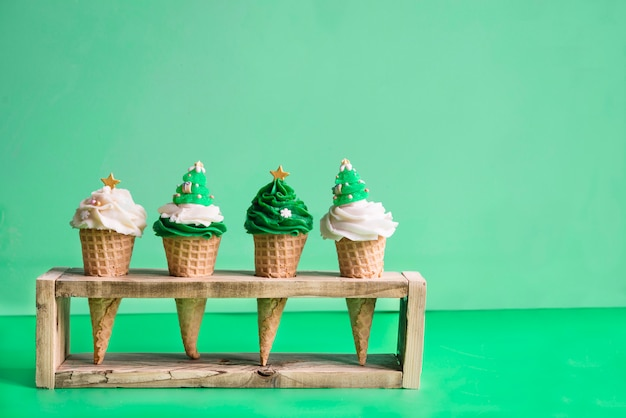 クリスマスの時期のアイスクリーム