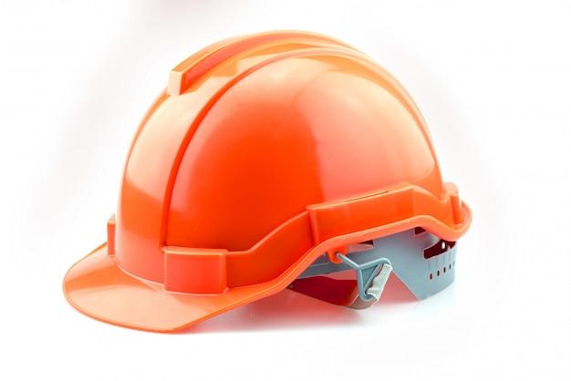 Оранжевый шлем для строителя