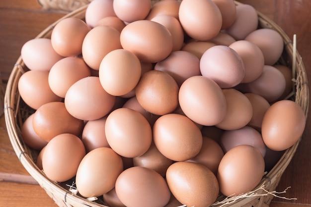 Яйца в корзине