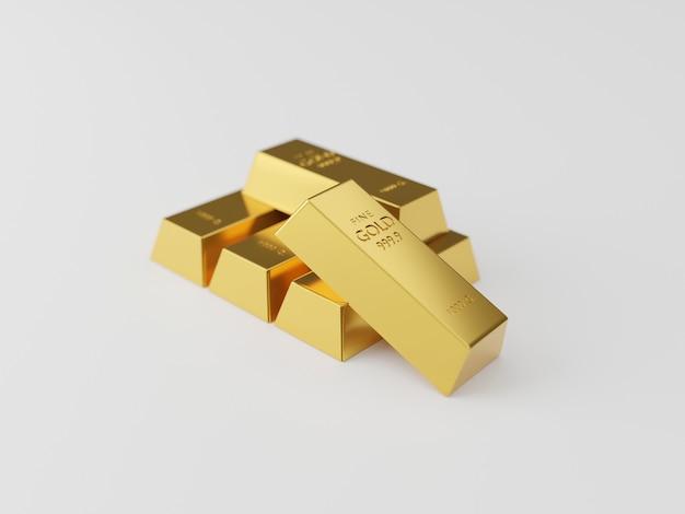 金の延べ棒のスタック。富の概念