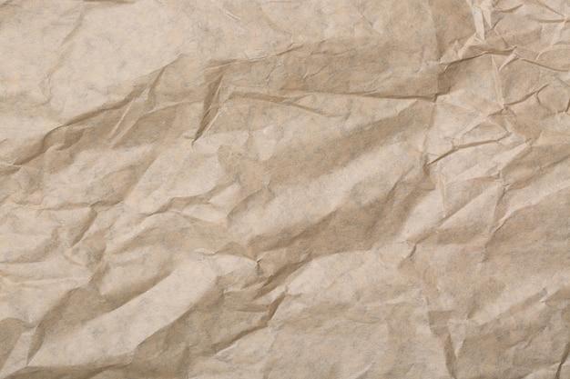 背景に抽象的な茶色リサイクルしわくちゃの紙