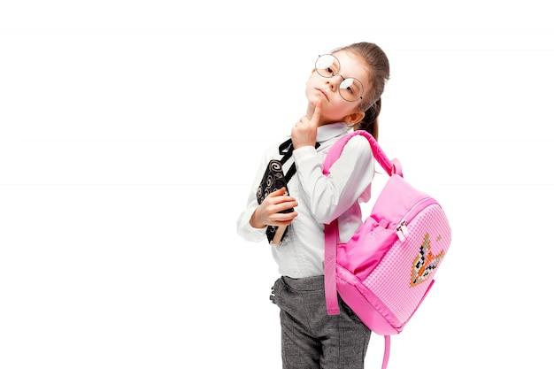 Ребенок с школьным портфелем