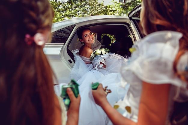 美しい花嫁。結婚式の写真。