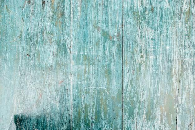 Синий деревянный забор размытым копией пространства крупным планом