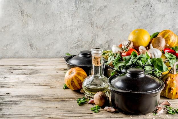 秋の季節のスープのコンセプト