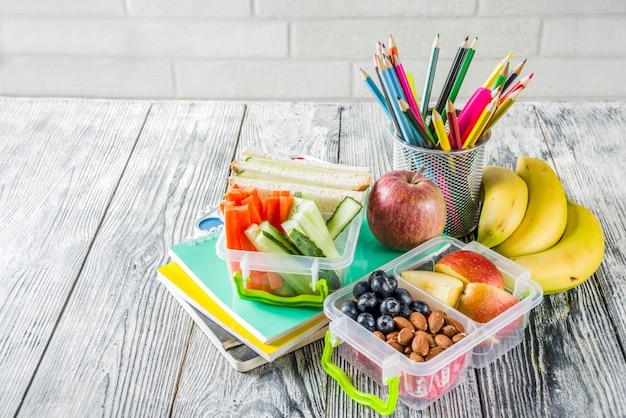 健康な学校給食ボックス
