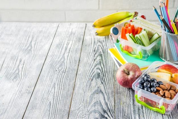 Коробка здорового школьного обеда