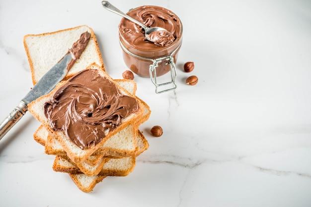 チョコレートスプレッドサンドイッチ