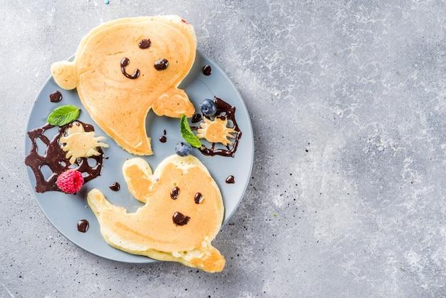 ハロウィンキッズ面白いパンケーキ