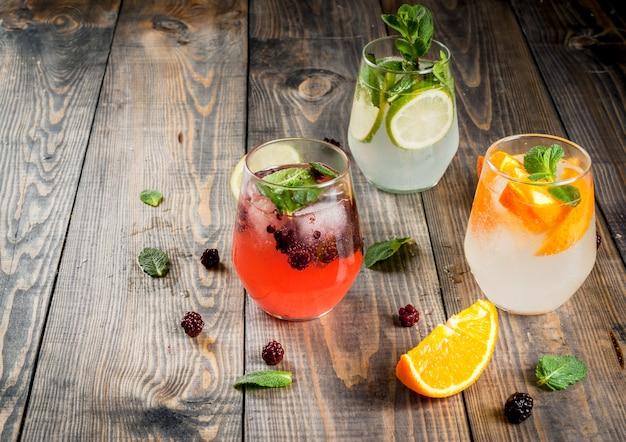 Подборка трех видов джин-тоника