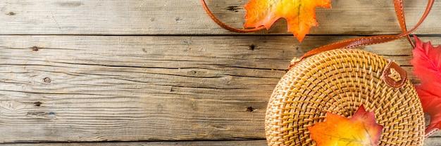 秋の素朴なバナーの背景