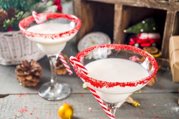 白いクリスマスカクテル