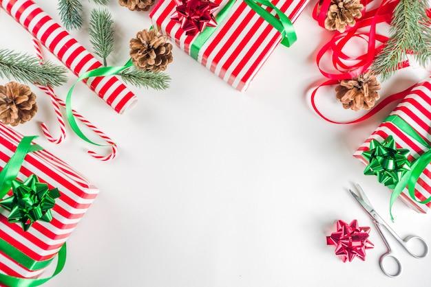 クリスマスの背景の準備