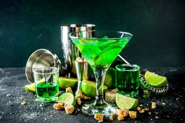 Абсент и водка мартини