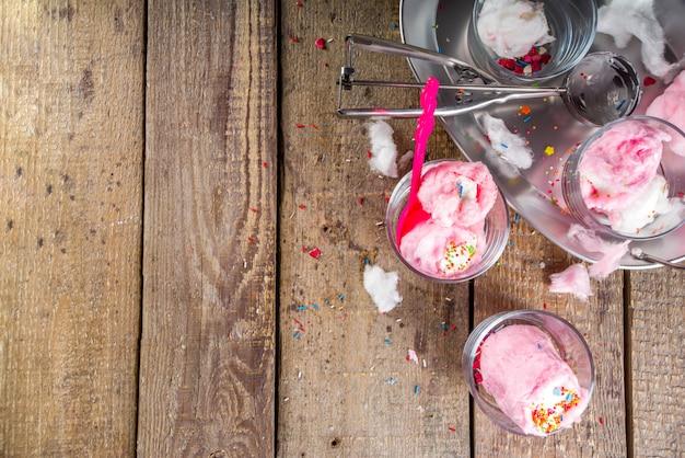 Сахарная вата буррито мороженое