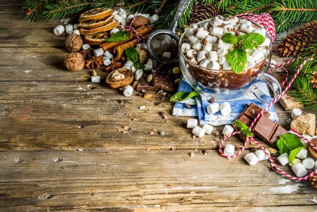 クリスマスのホットチョコレート