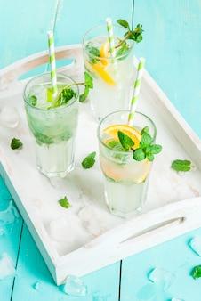 Выбор летних освежающих коктейлей