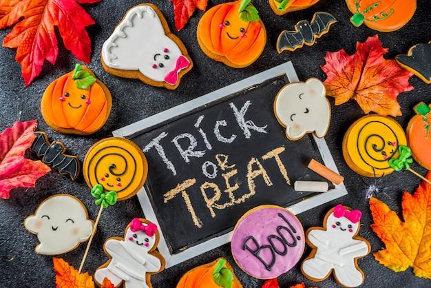 Хэллоуин фон с смешные пряники