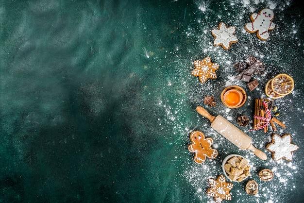 Рождество и новый год выпечка фон