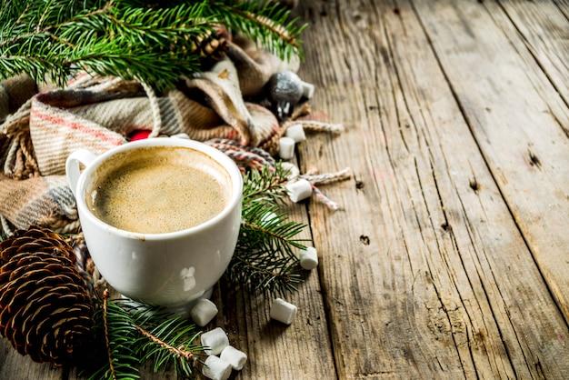 クリスマス冬のコーヒーカップ