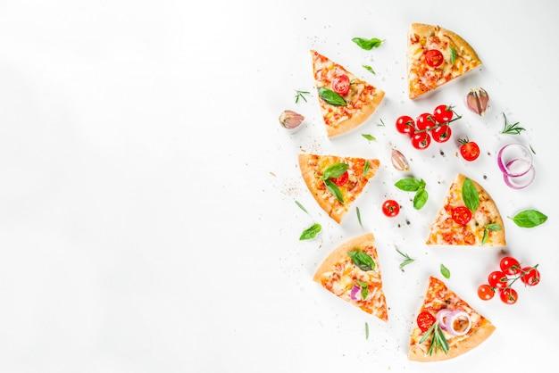 Кусочки сырной пиццы маргарита