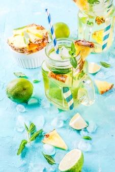 Ананасовый мохито или лимонад