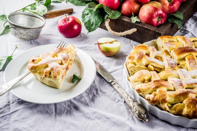 Сладкий домашний яблочный пирог