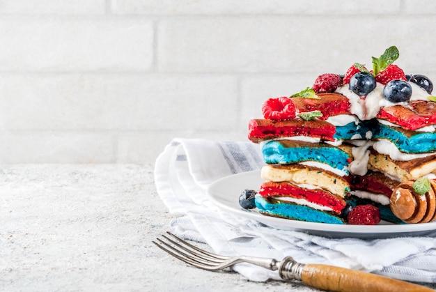 独立記念日の朝食、パンケーキ