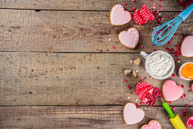 Валентина день выпечки фон