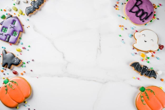 ハロウィンのクッキーとキャンディー