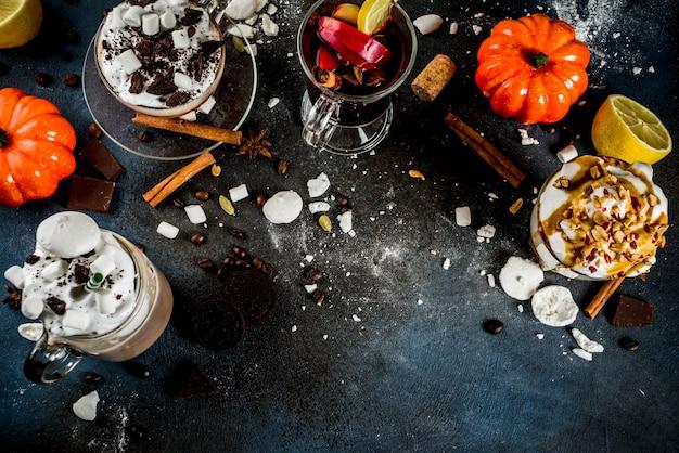 Осень зима теплые напитки