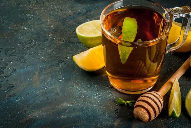 レモンとミントの紅茶