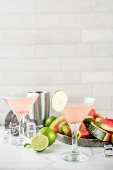 アルコールの夏の飲み物、スイカマティーニカクテル