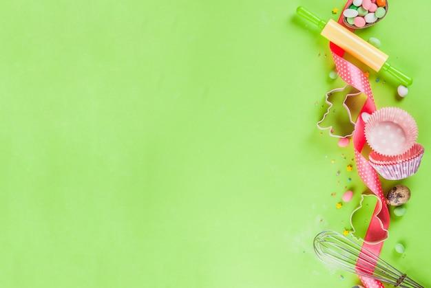 イースターの甘いベーキングコンセプト
