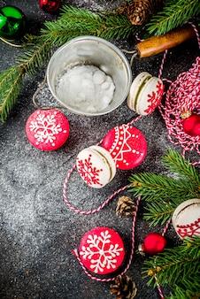 Рождественское макаронное печенье